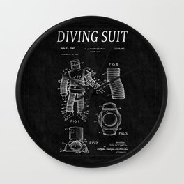 Diving Suit Patent 2 Wall Clock