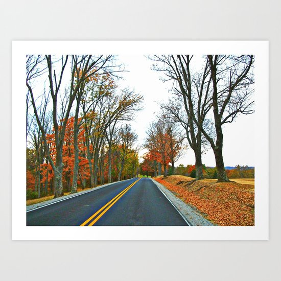 Cruising On A Beautiful Autumn Afternoon Art Print