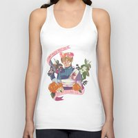 """resident evil Tank Tops featuring Resident Evil 2 Print - """"22 - Leon"""" by MIU/Manzo"""