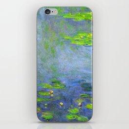 Water Lillies - Claude Monet (ufo green) iPhone Skin