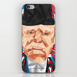 Portrait of Sir Winston Churchill iPhone Skin