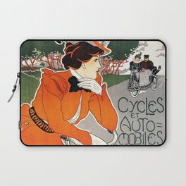 Vintage poster Cycles Legia - Georges Gaudy (new color rendition) Laptop Sleeve