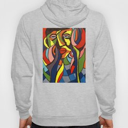 African Traditional Tribal Women Abstract Art Canvas Painting Series - 3 Hoody