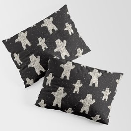 Polar Bear in Winter Snow on Black - Wild Animals - Mix & Match with Simplicity of Life Pillow Sham