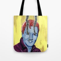 elvis Tote Bags featuring Elvis by FAMOUS WHEN DEAD
