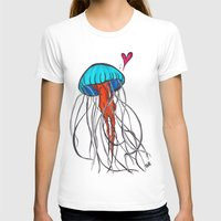 jelly fish T-shirts featuring Jelly Fish by Josée Lennon