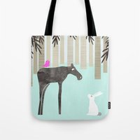 moose Tote Bags featuring Moose by Dream Of Forest
