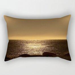 Bronze Sunset Reflection Rectangular Pillow