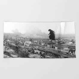 Old Time Godzilla Beach Towel