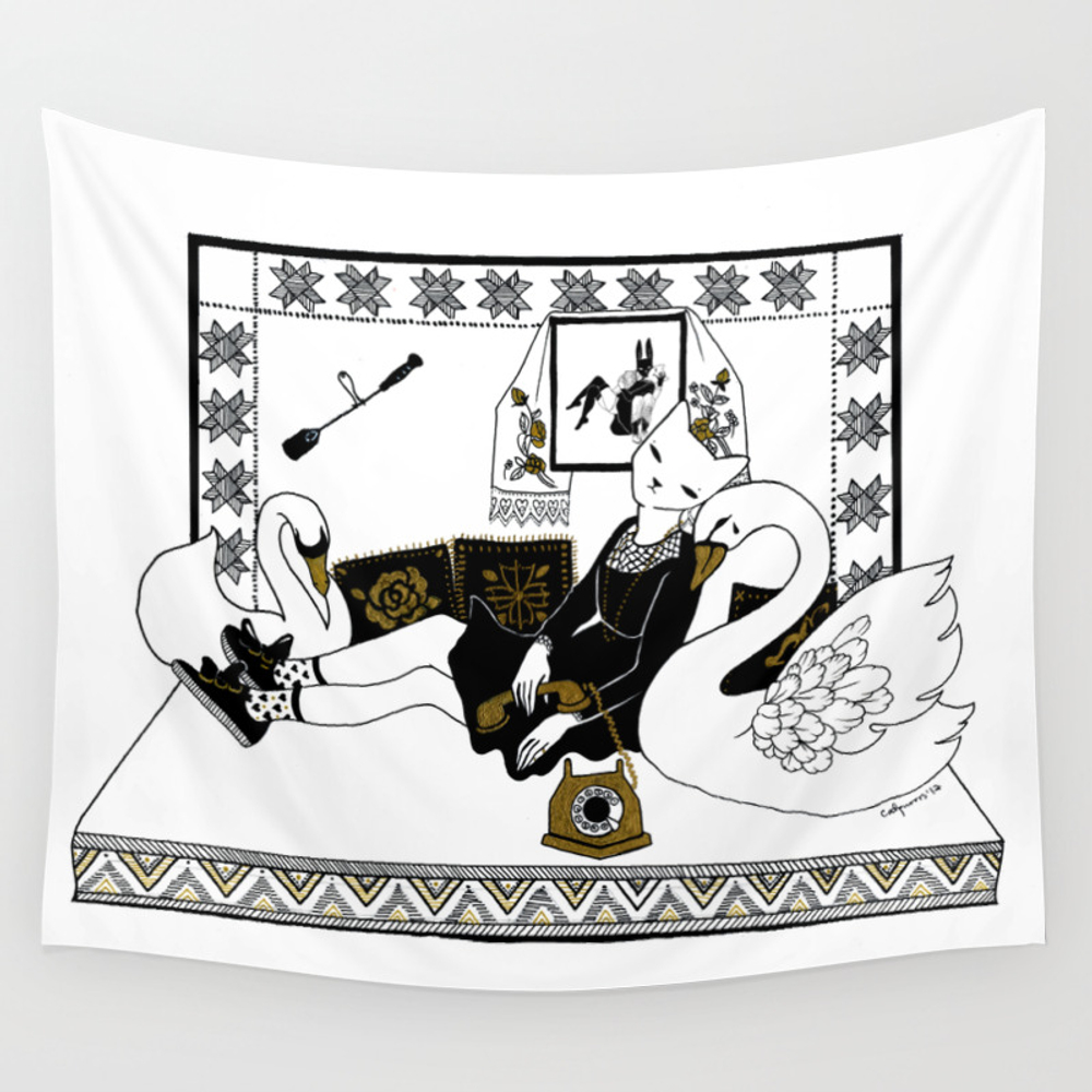 Call Me Call Me Wall Tapestry by Salondesmonstres TPS7781593