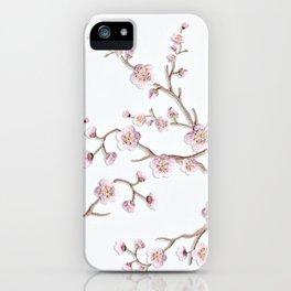 SAKURA LOVE - GRUNGE WHITE iPhone Case