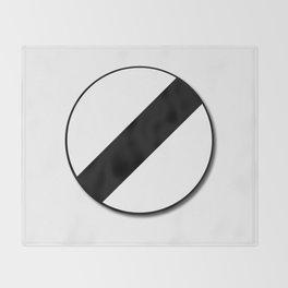 Derestriction Traffic Sign Throw Blanket