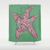 starfish Shower Curtains featuring Starfish by Planet Hinterland