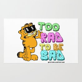 Too Rad to be Sad Garfield the Cat Rug