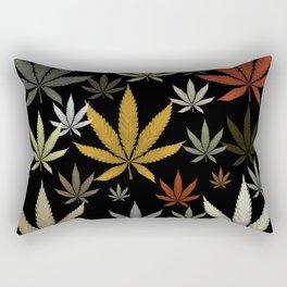 Marijuana Cannabis Weed Pot Leaves Rectangular Pillow