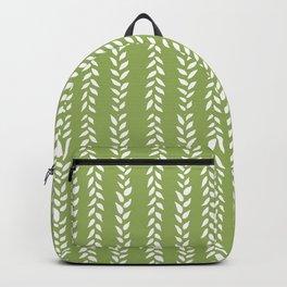 Sap Vines - nature spring leaves green pattern Backpack