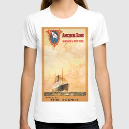 Anchor Line Glasgow to New York T-shirt