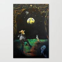 nursery Canvas Prints featuring Nursery Wrong by Life of Pen