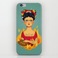 frida iPhone & iPod Skins featuring Frida by La Perera