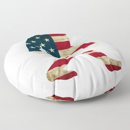 Bigfoot american flag Floor Pillow