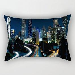 Downtown Atlanta At Night Rectangular Pillow