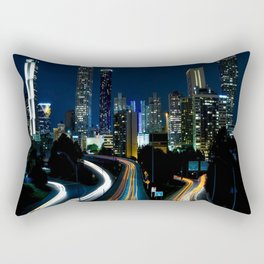 Downtown Atlanta At Night Rectangular Pillow