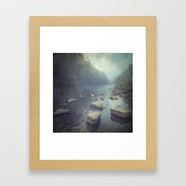 water and stone new version Framed Art Print