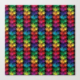 Cannabis Rainbow Canvas Print