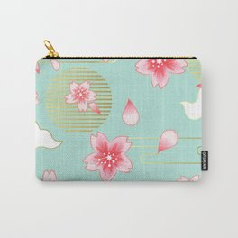 sky gold pimk flowers Carry-All Pouch