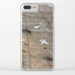 X Marks The Spots Clear iPhone Case