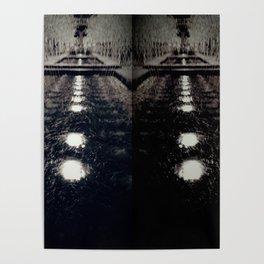 Darker Still - Fountain in Midnight and Black Poster
