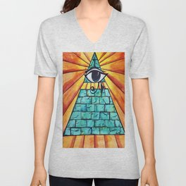 All Seeing Eye Unisex V-Neck