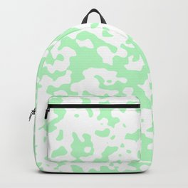 Spots - White and Light Green Backpack