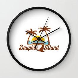 Dauphin Island - Alabama. Wall Clock