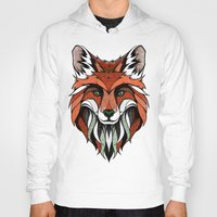 andreas preis Hoodies featuring Fox // Colored by Andreas Preis