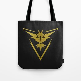 Team Instinct Sparkly yellow gold sparkles Tote Bag