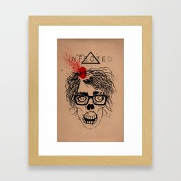 Mild Mannered Zombie Framed Art Print