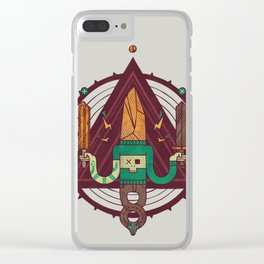He, with the peculiar voice Clear iPhone Case