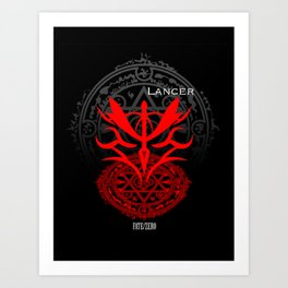 Fate/Zero Lancer Art Print