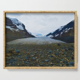 Columbia Icefields in Jasper National Park, Canada Serving Tray