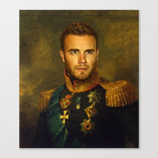Gary Barlow - replaceface Canvas Print