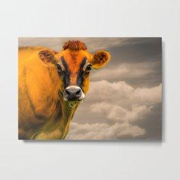 The Orange Cow Metal Print
