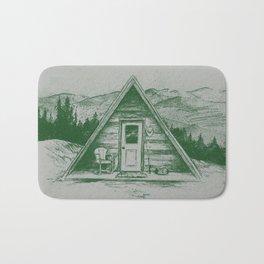 Tiny Cabin on the Mountain Bath Mat