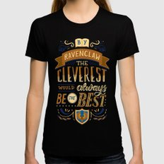Cleverest Black SMALL Womens Fitted Tee