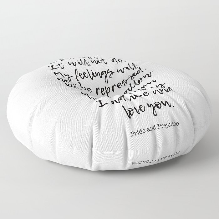 In vain I have struggled. -Love quotes Floor Pillow
