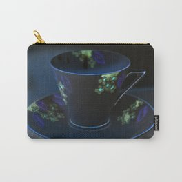 Midnight Blue Teacup | Still Life of Vintage Teacup Carry-All Pouch