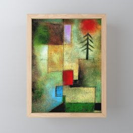 """Little Painting of Fir-Trees"" by Paul Klee (1922) Framed Mini Art Print"