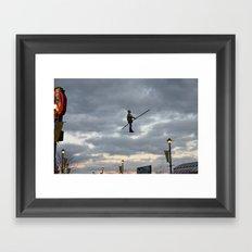 Airman Statue Framed Art Print