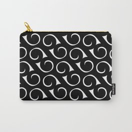 Black and White Swirls Carry-All Pouch