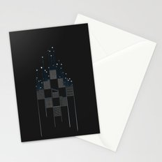 Space Flow Between Buildings Stationery Cards